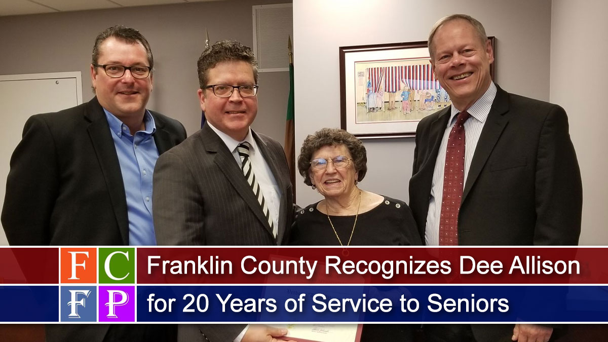 Franklin County Recognizes Dee Allison for 20 Years of Service to Seniors