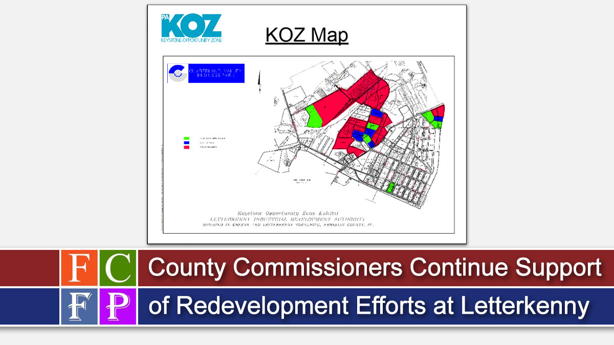 County Commissioners Continue Support of Redevelopment Efforts at Letterkenny