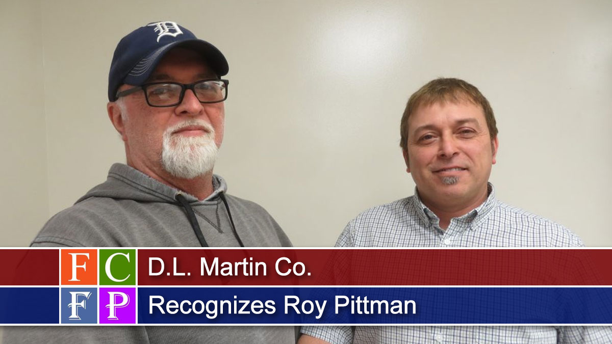 D.L. Martin Co. Recognizes Roy Pittman