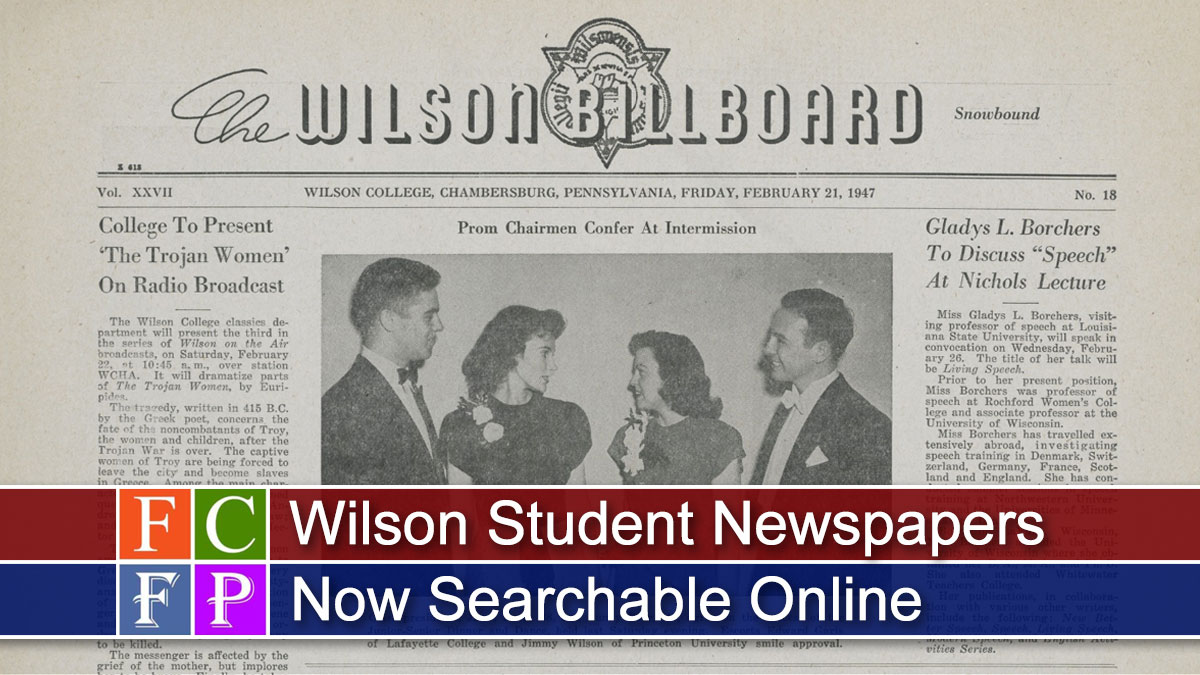 Wilson Student Newspapers Now Searchable Online