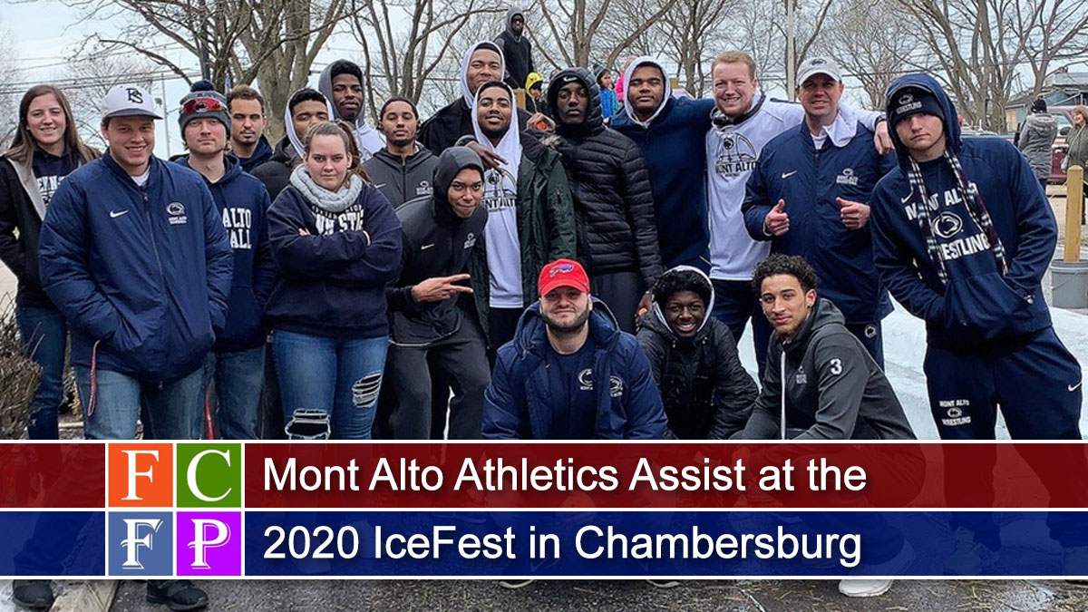 Mont Alto Athletics Assist at the 2020 IceFest in Chambersburg