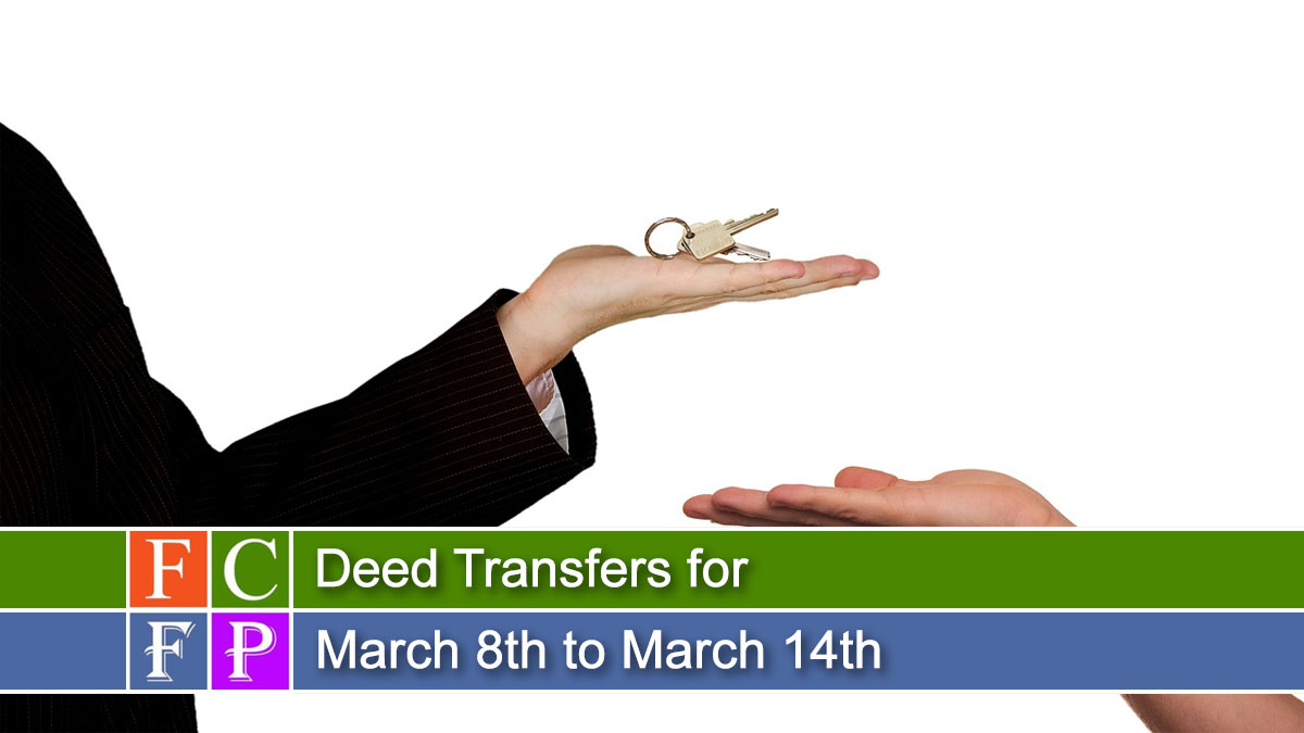 Deed Transfers for March 8th to March 14th