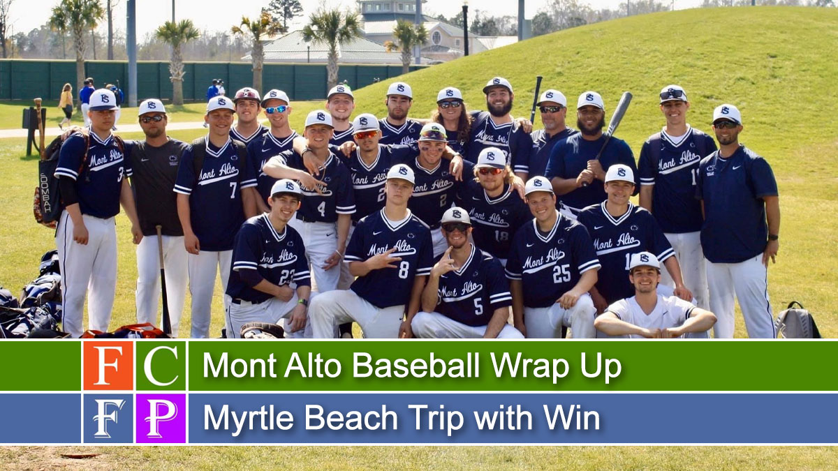 Mont Alto Baseball Wrap Up Myrtle Beach Trip with Win