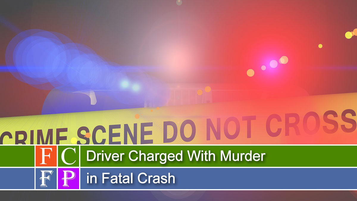 The driver of a car that crashed into a house on Coldbrook Avenue last weekend has been charged with murder in the death of a 60-year-old woman who died in that crash.