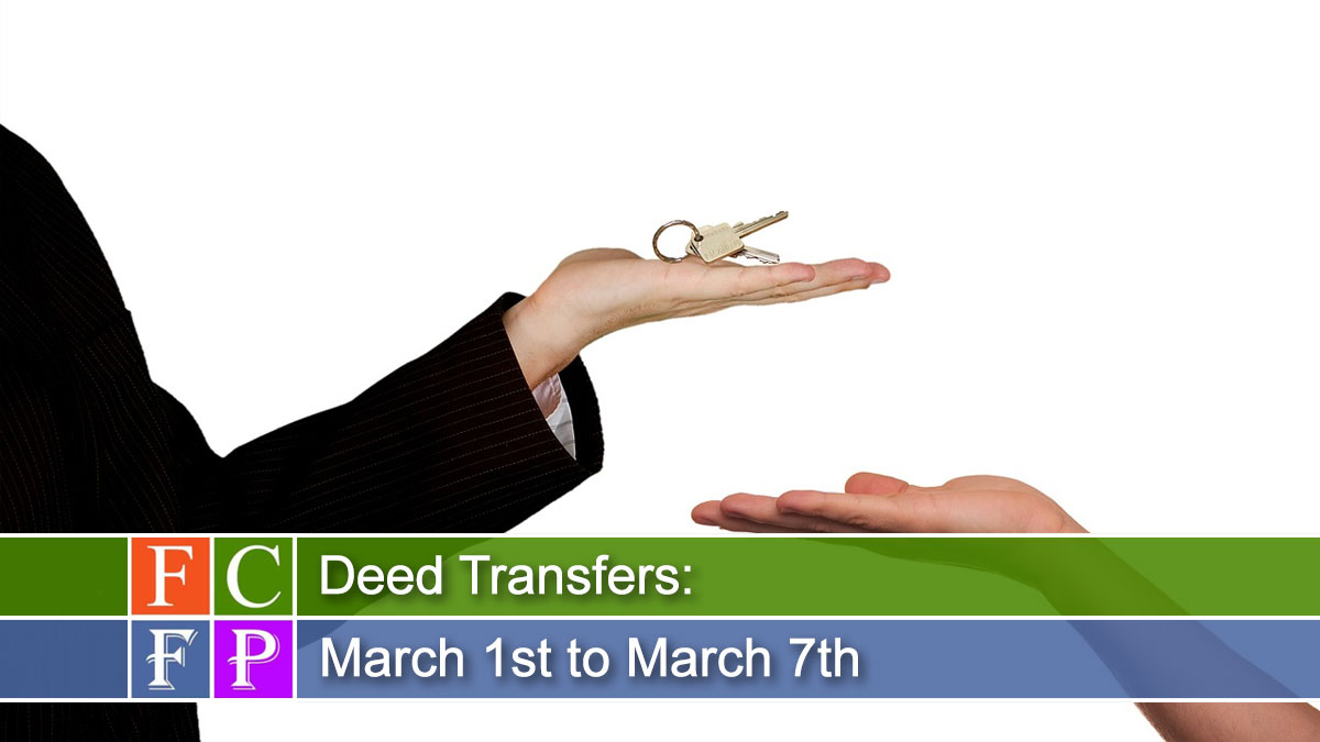 Deed Transfers for March 1st to March 7th