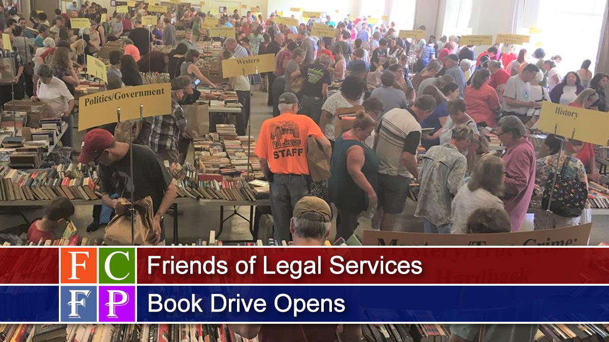 Friends of Legal Services Book Drive Opens