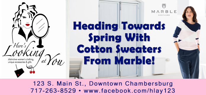 Heading towards Spring with cotton sweaters from Marble