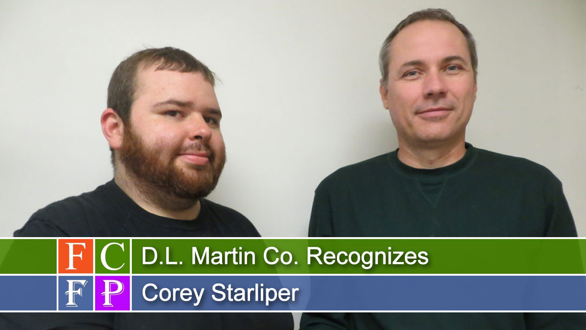 D.L. Martin Co. Recognizes Corey Starliper
