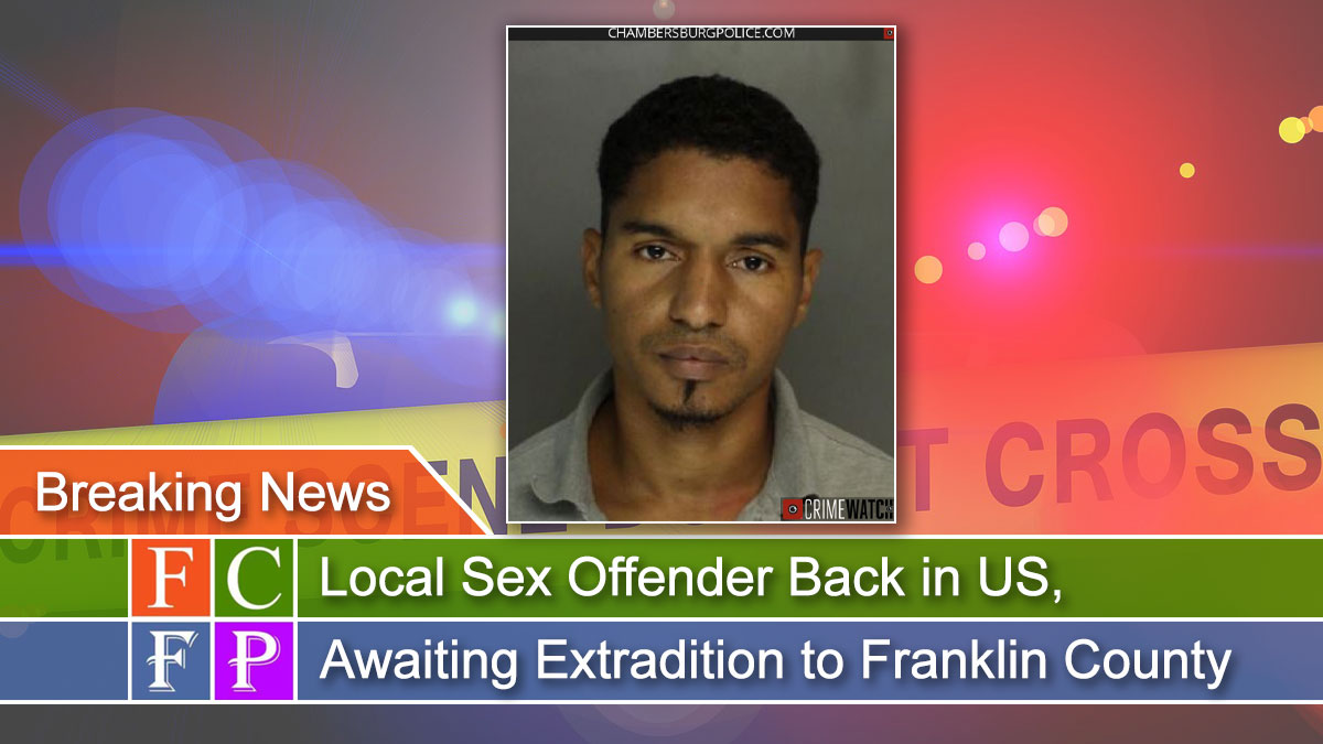 Local Sex Offender Back in US, Awaiting Extradition to Franklin County