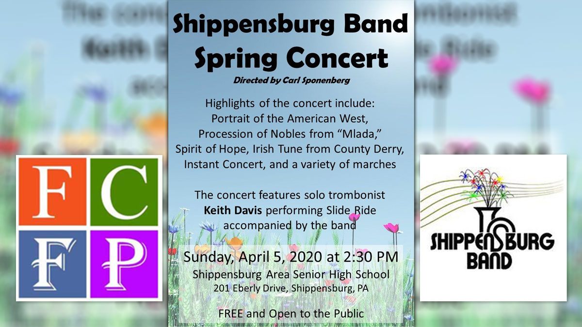 Apr 5: Shippensburg Town Band Concert: CANCELLED