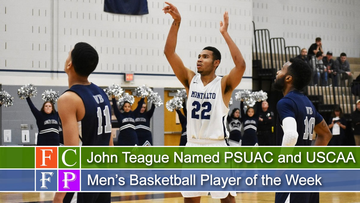 John Teague Named PSUAC and USCAA Men's Basketball Player of the Week