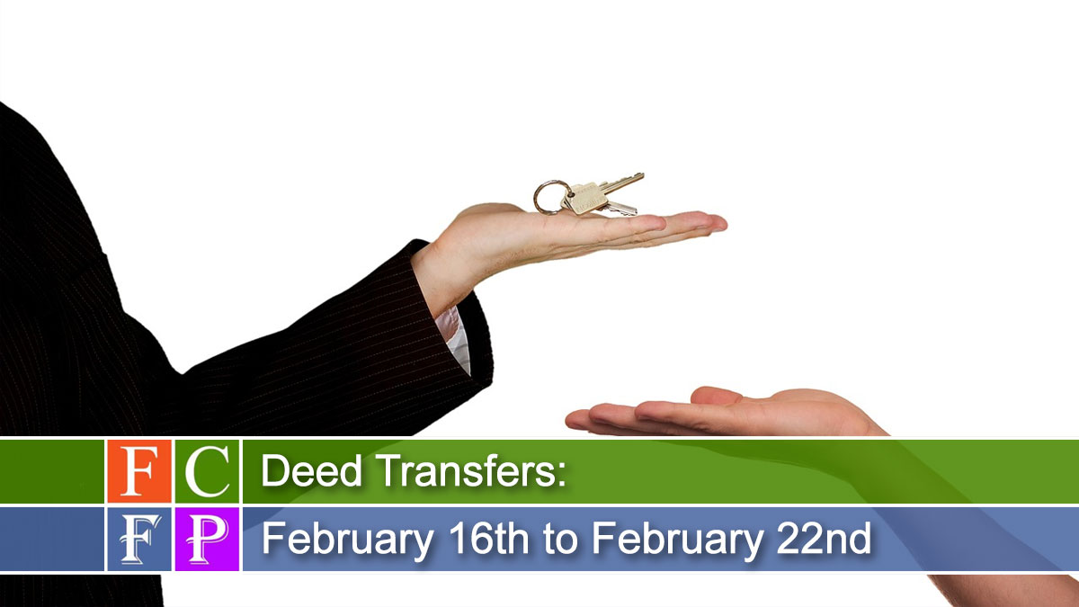 Deed Transfers for February 16th to February 22nd