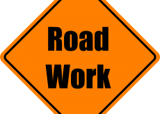 Road work in Shippensburg