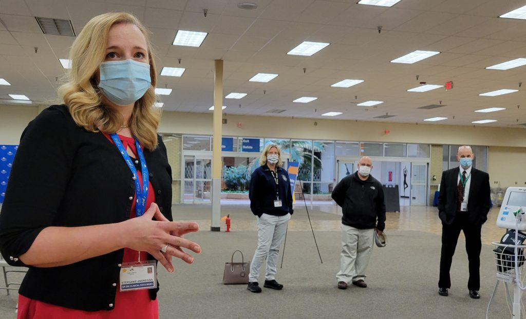 Vaccination center opens